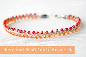 bracelet designs with beads images Hemp jewelry beaded summer ankle bracelet jpg