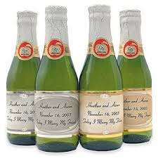 wine bottle favors mini sparkling cider favors wine theme wedding favors wedding