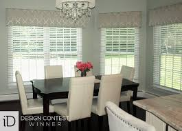 Roman Shades Over Wood Blinds Custom Window Valances Budget Blinds