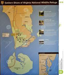 Eastern Shore Virginia Map by Eastern Shore Virginia National Wildlife Refuge Map Editorial