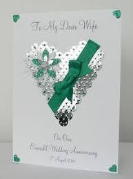 55th wedding anniversary 55th emerald wedding anniversary card husband friends etc
