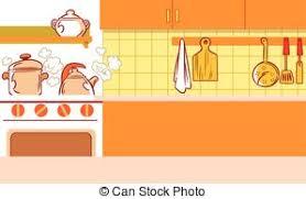 cuisine dessin animé cuisine dessin animé fond interior arrière plan
