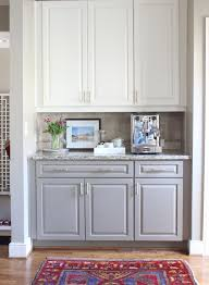 kitchen cabinets gray bottom white top before and after two tone kitchen cabinets painting