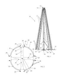 patent us8678615 light strand tree for flagpole