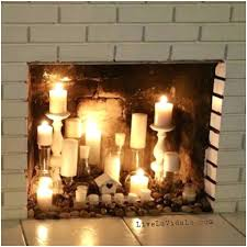 fireplace wondrous faux fireplace candles for home fake
