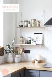etagere pour cuisine une étagère faite maison pour égailler votre cuisine ou