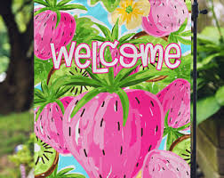 Personalized Garden Decor Welcome Flag Personalized Garden Flag Patriotic Flags