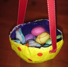 paper mache easter baskets before easter gets here this weekend try this paper mache basket