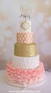 peach ombre wedding cake wedding cakes