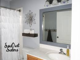 diy bathroom mirror ideas bathroom diy bathroom mirror frame with shelf tile ideas