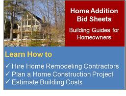 home remodeling articles home building bid sheets planning and management tools for home