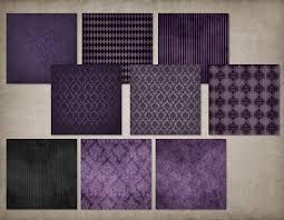 halloween background scrapbook paper purple gothic digital paper skull damask halloween scrapbook