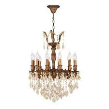 Two Golden Rings Bead Chandelier Crystal Chandeliers Lighting The Home Depot