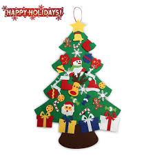amazon com assis 2017 new 3ft felt christmas tree set with