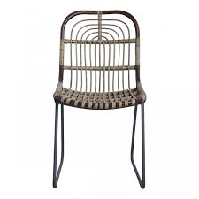 Upright Armchair Kawa Rattan Upright Chair By House Doctor Dk