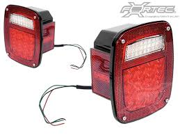 Jeep Tj Led Tail Lights Lights Rugged Ridge Kc 1001 Rugged Ridge Or Kc Led Tail