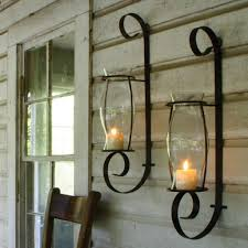 tuscan sconces old world home decoration ideas black metal candle