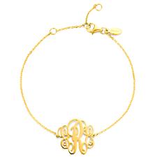 monogram bracelet gold personalized monogram bracelet gold plated 925 sterling silver new