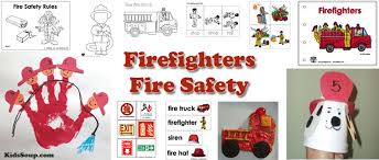 firefighter fire safety activities lessons crafts kidssoup
