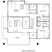 beach house floor plan raised plans houses narrow lot lrg cool