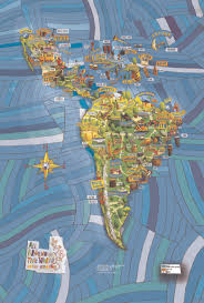 Latin America Physical Features Map Musical Map Of Latin America By All Around This World What A