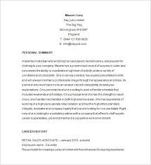 retail resume template u2013 10 free samples examples format