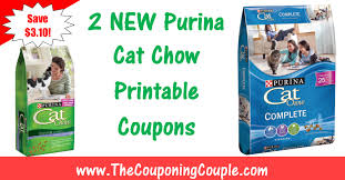 2 new purina printable coupons save 3 10 on cat chow