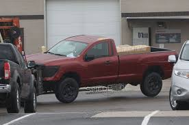 nissan truck 2017 caught undisguised 2017 nissan titan regular cab
