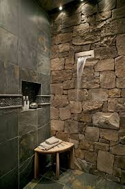 Bathroom Shower Wall Ideas Bathroom Awesome Bathroom Design With Waterfall Shower