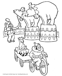 Circus Coloring Page Circus Bears Embroidery Patterns Circus Coloring Page