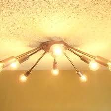 mid century flush mount lighting mid century flush mount lighting raw steel sputnik 8 arm flush mount