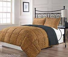 Leopard King Size Comforter Set Animal Print Microfiber Comforters U0026 Bedding Sets Ebay