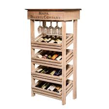 Wine Barrel Home Decor Napa Vineyard Crate Wine Rack And Cabinet