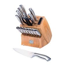 chicago cutlery insignia steel 18 pc block set world kitchen