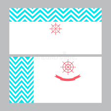 Marine Business Cards Business Card Template In Nautical Marine Style Stock