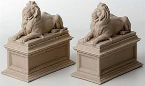new york library bookends new york library lions bookends edward clark potter 1911