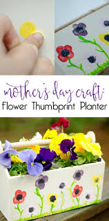 mother u0027s day craft flower thumbprint planter