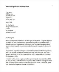 sample resignation letter to hr manager cover letter sample