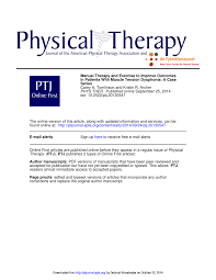 manual therapy and exercise to improve outcomes in patients with