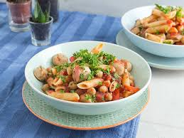 pasta with sausage tomatoes and rosemary recipes kitchen stories