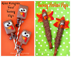 thanksgiving turkey treats chocolate rice krispie treat turkeys