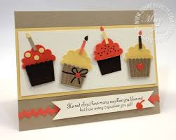 stampin u0027 up birthday card cupcakes handmade birthday cards