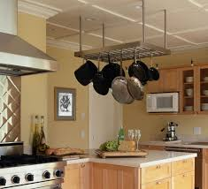 kitchen island with hanging pot rack hanging pot rack ikea wooden stained islands built in oven bulit