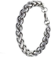 stainless silver bracelet images Men style stainless steel silver bracelet price in india buy men jpeg