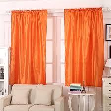 orange bedroom curtains orange curtains amazon co uk