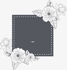 wedding invitation style hand painted flower text border wedding