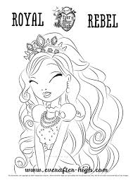 apple white royal beauty dress coloring page ever after high