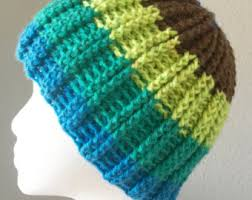double ribbed beanie pattern crochet reversible use 1 caron
