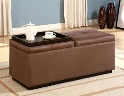 Trays For Coffee Table Ottomans Soar Cushioned Coffee Table Upholstered With Tray Ottoman Modern