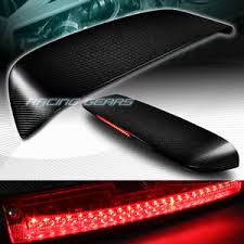 honda civic spoiler brake light for honda civic hatchback carbon fiber rear roof led brake light